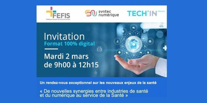 Colloque industries de santé FEFIS et entreprises du numérique SyntecNumérique
